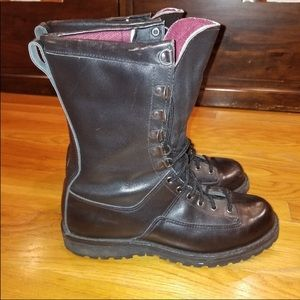 8 Recon Tactical Black Leather Boots